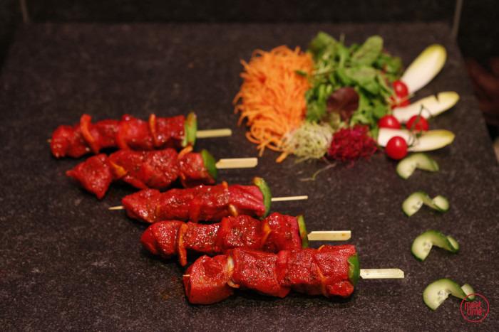 gemarineerd rundsbrochette (4 st. vlees) - Fishtime