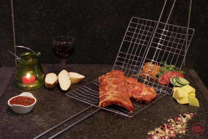 Gemarineerde ribben 150 gr  (+/- 2 beentjes) BBQ - Fishtime